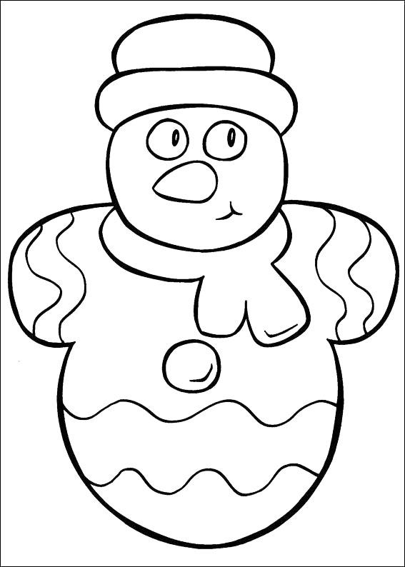 Новогодние игрушки, снеговик Рисунок раскраска на зимнюю тему