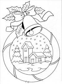 Открытки с избушкой и колокольчиками Детские раскраски зима распечатать